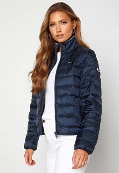 TOMMY JEANS Quilted ZipThrough Twilight Navy Bubbleroom.se
