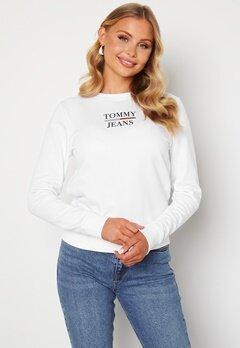 TOMMY JEANS Slim Terry Sweatshirt YBR White Bubbleroom.se