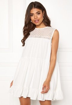 TOMMY JEANS Summer Sleeveless Lace Dress 100 Classic White Bubbleroom.se