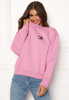 TOMMY JEANS Tommy Badge Crew 579 Lilac Chiffon Bubbleroom.se
