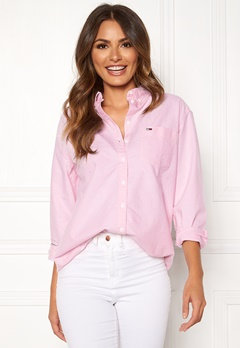 TOMMY JEANS Tommy Classics Shirt 612 Oxford Pink Bubbleroom.se