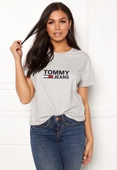 TOMMY JEANS Tommy Flag Tee 000 Light Grey Bubbleroom.se