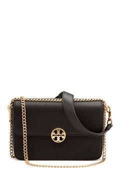 TORY BURCH Chelsea Convertible Bag Black Bubbleroom.se