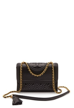 TORY BURCH Flemming Quilted Leather 001 Black Bubbleroom.se