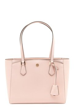 TORY BURCH Robinson Small Tote Shell pink Bubbleroom.se