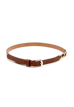 Pieces Tory Leather Waist Belt Cognac Bubbleroom.se