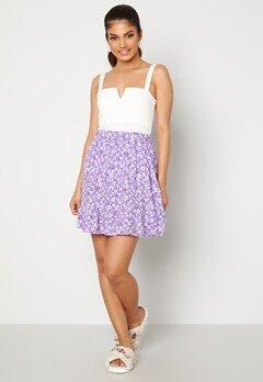 Trendyol Flower Flounce Skirt Lila Bubbleroom.se