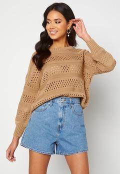 Trendyol Knitted Sweater Camel Bubbleroom.se