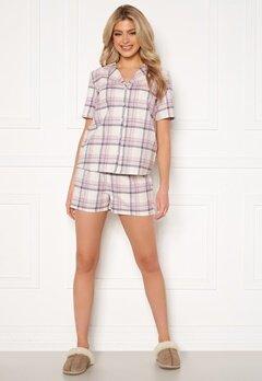 Trendyol Shirt Short Pyjama Set Pudra/Powder Pink Bubbleroom.se