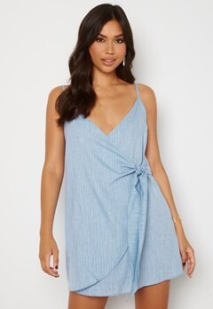 Trendyol Short Wrap Dress Blue bubbleroom.se