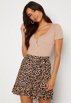 Trendyol Wrap Mini Skirt Brown Bubbleroom.se