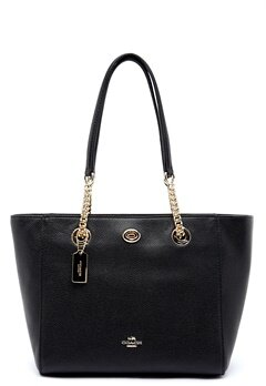 COACH Turn Lock Leather Bag LIBLK Black Bubbleroom.se