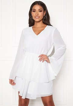 Rut & Circle Tuva Frill Dress White Bubbleroom.se