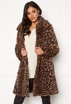 Twist & Tango Birgit Faux Fur Coat Leopard Bubbleroom.se