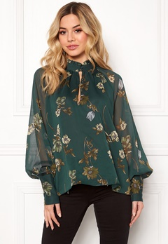 Twist & Tango Eden Blouse Green Botanical Bubbleroom.se