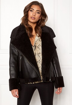 Twist & Tango Jemina Shearling Jacket Black Bubbleroom.se