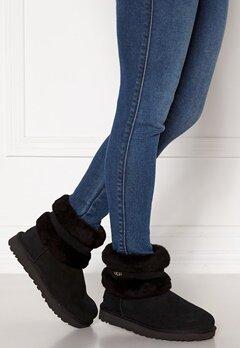 UGG Fluff Mini Belted Boots Black Bubbleroom.se