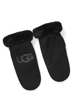 UGG Australia Logo Mitten Black Bubbleroom.se