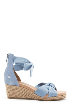 UGG Yarrow Wedge Blue Canvas Bubbleroom.se