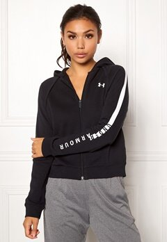 Under Armour Rival Fleece FZ Hoodie Black Bubbleroom.se