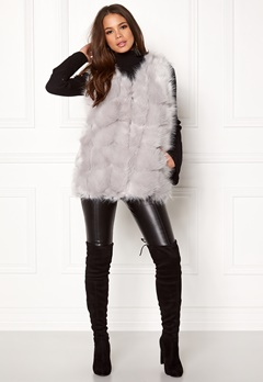 Urban Mist Faux Fur Panel Short Light Grey Bubbleroom.se