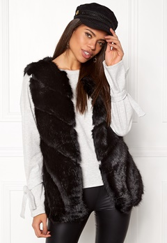 Urban Mist Faux Fur Panel Swing Black Bubbleroom.se