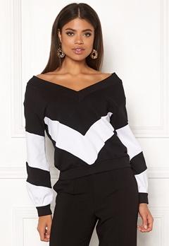 Ivyrevel V Neck Sweater Black/White Bubbleroom.se