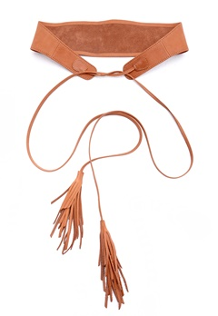 Pieces Vanda leather waist belt Cognac Bubbleroom.fi