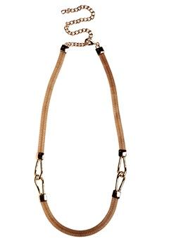 Pieces Vanilla chain waist belt Gold Colour Bubbleroom.fi