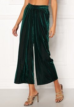 co'couture Velvet Groove Cropped Pant 34 Green Bubbleroom.se