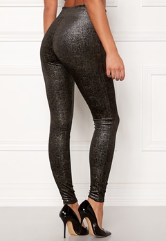 Spanx Velvet Leggings Black/Gold Bubbleroom.se