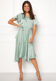 VERO MODA Alanna Wrap Dress Jadeite Bubbleroom.se
