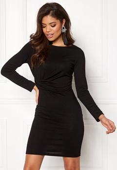 VERO MODA Alba Knot L/S Short Dress Black Bubbleroom.fi
