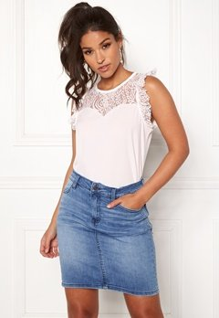 VERO MODA Alberta Lace Top Snow White Bubbleroom.se