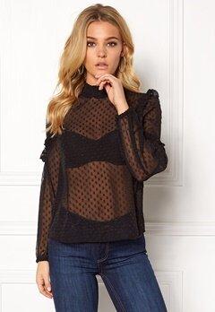 VERO MODA Amanda L/S Shirt Black Bubbleroom.no