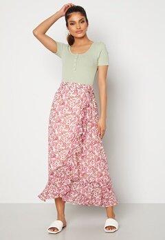 VERO MODA Anneline Wrap Skirt Birch AOP: New Annel Bubbleroom.se