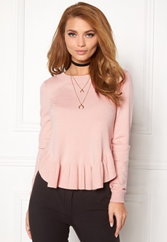 VERO MODA Annika Light ls Ruffle Peach Whip Bubbleroom.fi