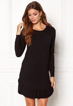 VERO MODA Annika LS Ruffle Dress Black Beauty Bubbleroom.no