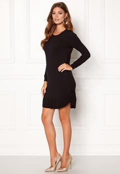 VERO MODA Annika LS Ruffle Dress Black Beauty Bubbleroom.se