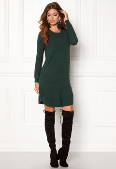 VERO MODA Annika LS Ruffle Dress Green Gables Bubbleroom.se
