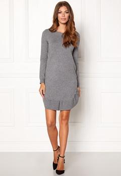 VERO MODA Annika LS Ruffle Dress Medium Grey Melange Bubbleroom.se