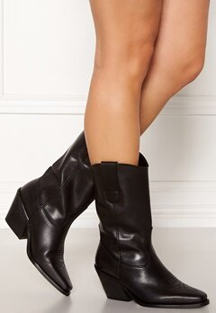 VERO MODA Asa Leather Boot Black Bubbleroom.se