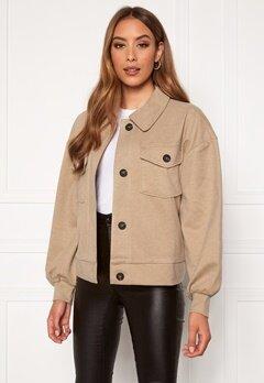 VERO MODA Asha L/S Overshirt Jacket Birch Bubbleroom.se