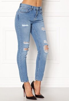 VERO MODA Ashley Cigarette Ankle Medium Blue Denim Bubbleroom.fi