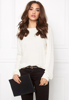VERO MODA Asta LS Blouse Snow White Bubbleroom.no