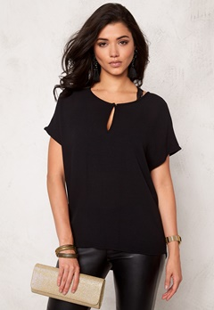 VERO MODA Asta SS Blouse Black Bubbleroom.no