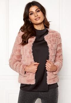 VERO MODA Avenue Faux Fur Short Misty Rose Bubbleroom.se