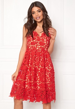 VERO MODA Beauti s/l Lace Dress Hibiscus Bubbleroom.fi
