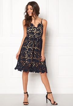 VERO MODA Beauti s/l Lace Dress Navy Blazer Bubbleroom.fi