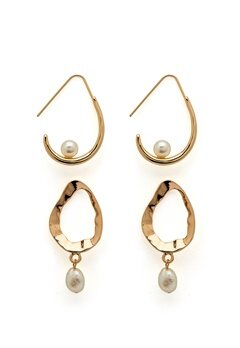 VERO MODA Blia Earrings 2-pack Gold Colour Bubbleroom.se